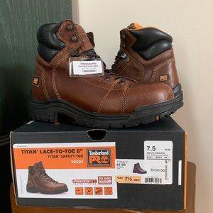 NWT Timberland Pro Titan Safety Toe Work Boot